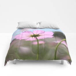 Thoughts of Spring Flowers Comforters