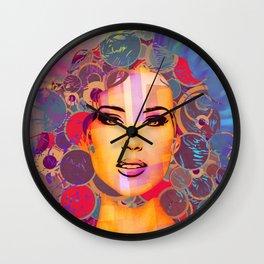Mimicry, face Wall Clock
