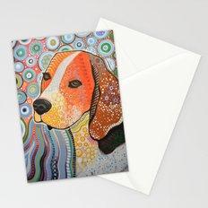 Rocky ... Abstract dog art, Beagle Stationery Cards