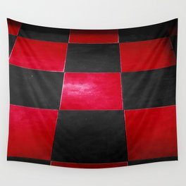 Red and Black Checkers Wall Tapestry