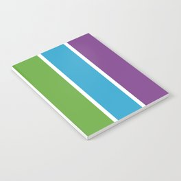 Rainbow Bright Happy Color - Red Orange Yellow Green Blue Purple - Stripes  Pride Notebook