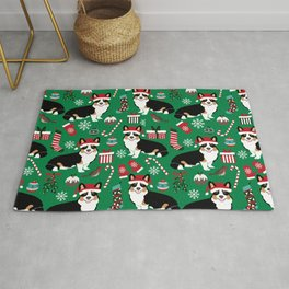 Tricorgi Christmas pattern - cute corgi, corgi lover, corgi gift, cute dog, dogs Rug
