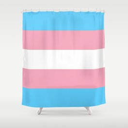 Transgender flags By Monica Helms Shower Curtain