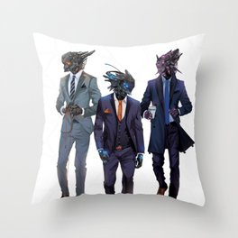 Snazzy looking bots Throw Pillow