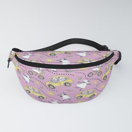 Pink Sheep in Cars Fanny Pack