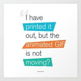 animated GIF  Art Print