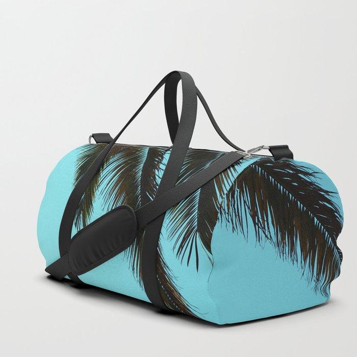Palm Tree Blue Sky Duffle Bag