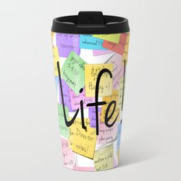 life is a series of notepads Travel Mug