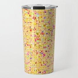 Antique Texture Lemon Yellow Travel Mug