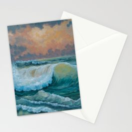 Green seas Stationery Cards