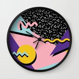 Memphis Pattern 23 - 80s Retro - Pastel Colors Wall Clock