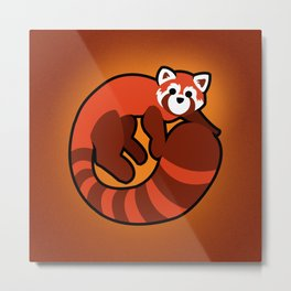 Fire Ferret Metal Print