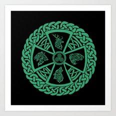 Celtic Nature Art Print