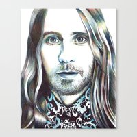 jared leto Canvas Prints featuring Jared Leto by ShayMacMorran