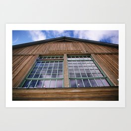 the cabin at the top Art Print