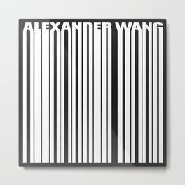 Alexander Wang Welded Barcode White Logo Metal Print