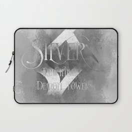 SILVER for the Demon Towers. Shadowhunter Children's Rhyme. Laptop Sleeve