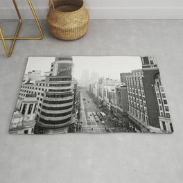 Gran Via in Madrid Rug