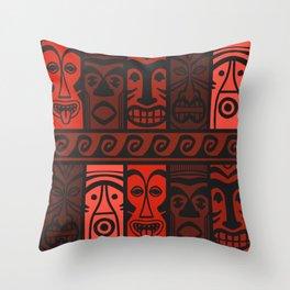 Lava Red Tikis! Throw Pillow