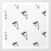 pizza Art Prints featuring Pizza by annies
