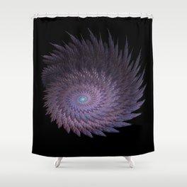 3D Fractal Pinwheel Shower Curtain