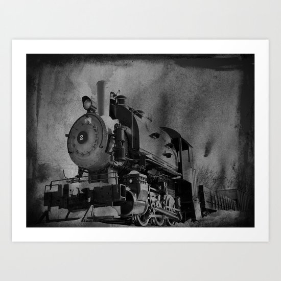 Old School Choo Choo Art Print