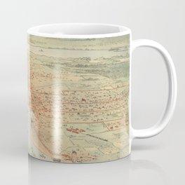 Vintage Pictorial Map of Portland OR (1896) Coffee Mug