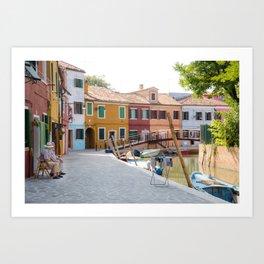 Sunday Morning on Murano Island, Venice, Italy Art Print