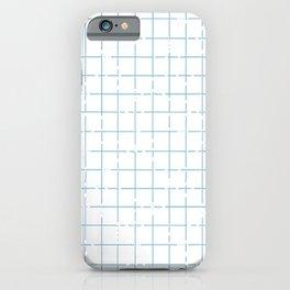 broken lines grid in light blue iPhone Case