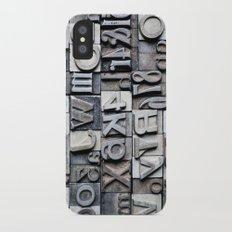 Letterpress iPhone X Slim Case