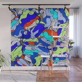 Sleepy Heads - Sapphire Blue Wall Mural