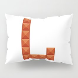 "Letter ""L"" print in beautiful design Fashion Modern Style Pillow Sham"