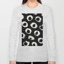 Polka Dots Cream on Black 2 Long Sleeve T-shirt