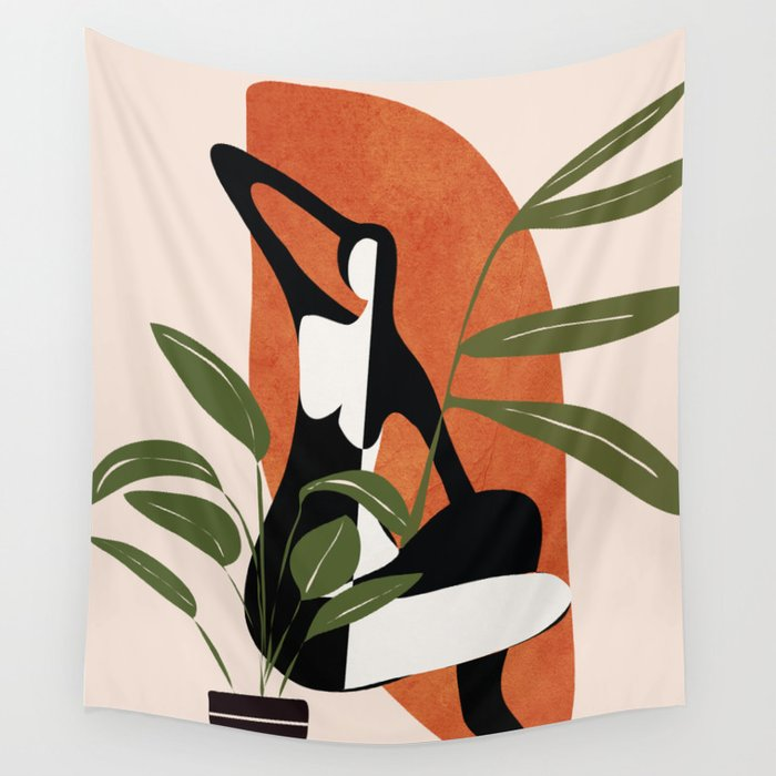 Abstract Female Figure 20 Wall Tapestry