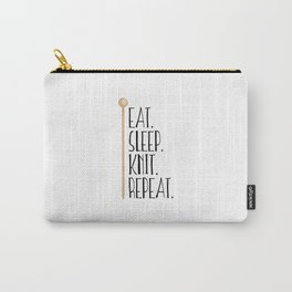 Eat Sleep Knit Repeat Carry-All Pouch