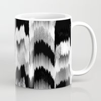 glitch Mugs featuring Glitch 2 by Elisabeth Fredriksson
