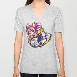 Super Sailor Moon & Chibi Moon (edit 1/A) Unisex V-Neck