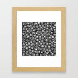 Poker chips B&W / 3D render of thousands of poker chips Framed Art Print