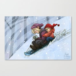 Sledding Canvas Print