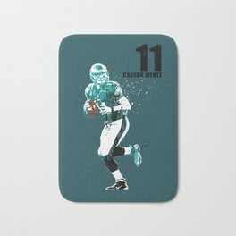 Carson Wentz #American football player on green Bath Mat