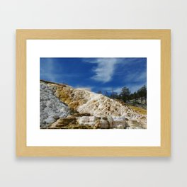 Mammoth Terraces, Yellowstone Framed Art Print