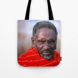 African Maasai Elder Tote Bag