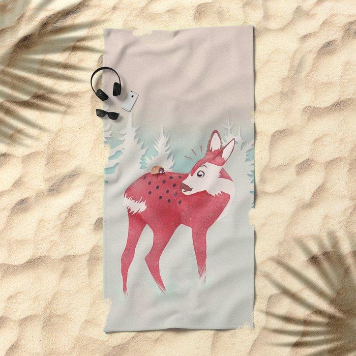 Oh deer, what the bug?! Beach Towel