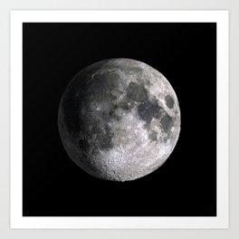 The Full Moon Super Detailed HD Print Art Print