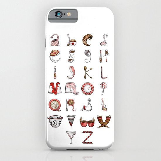 Spills & Spoons Alphabet iPhone & iPod Case
