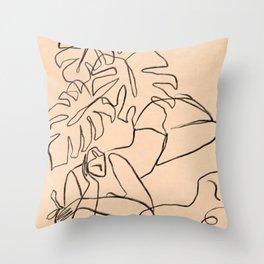 Summer Lines Throw Pillow