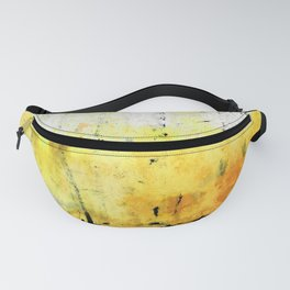 Yellow Abstract Art - Good Vibrations - By Sharon Cummings Fanny Pack
