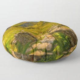 Gate to Snowdonia Wales Floor Pillow