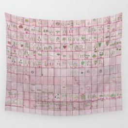 The Complete Voynich Manuscript - Red Tint Wall Tapestry