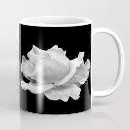 White Rose On Black Coffee Mug